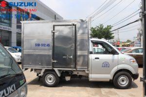 xe tải suzuki 750kg thùng kín cửa hông