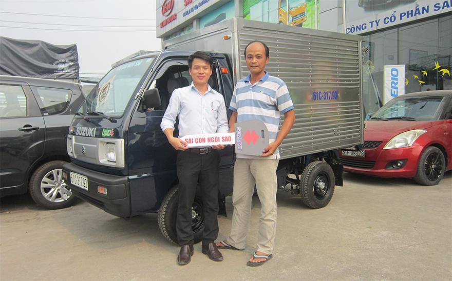 xe tải suzuki 500kg thùng kín