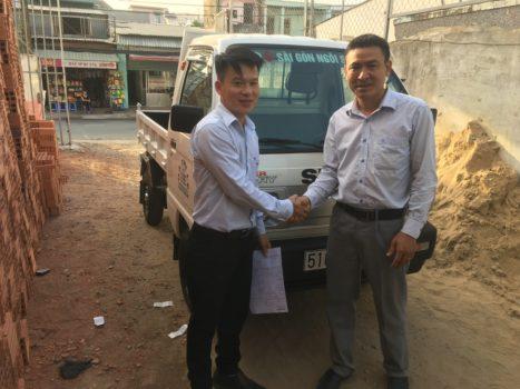 xe tải chở vật liệu xây dựng3
