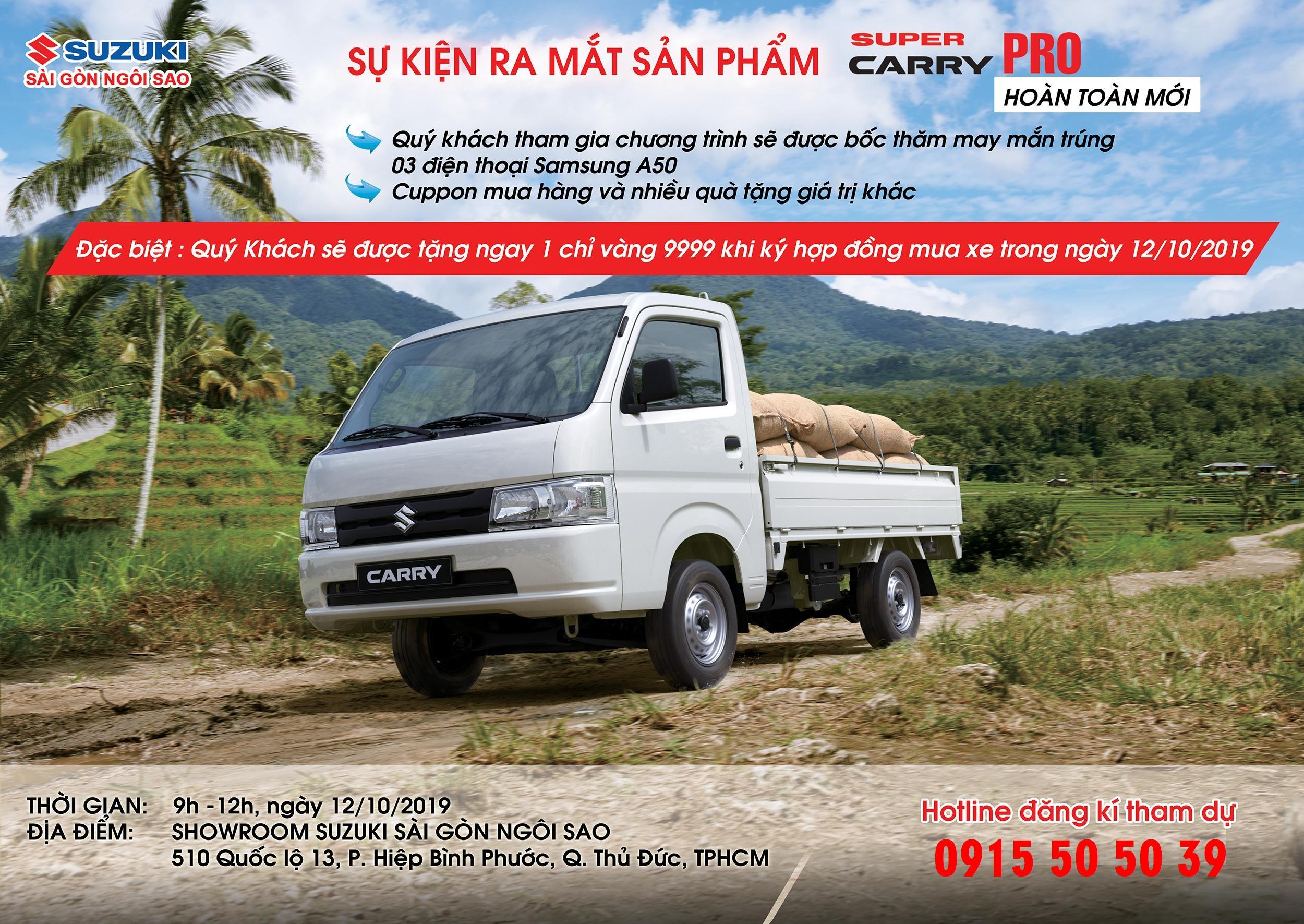 giá xe tải suzuki 810kg khuyến mãi