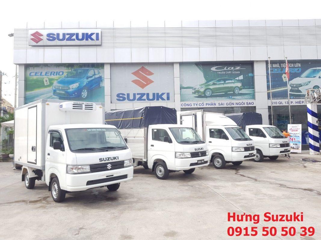 giá xe tải suzuki các loại thùng xe carry pro